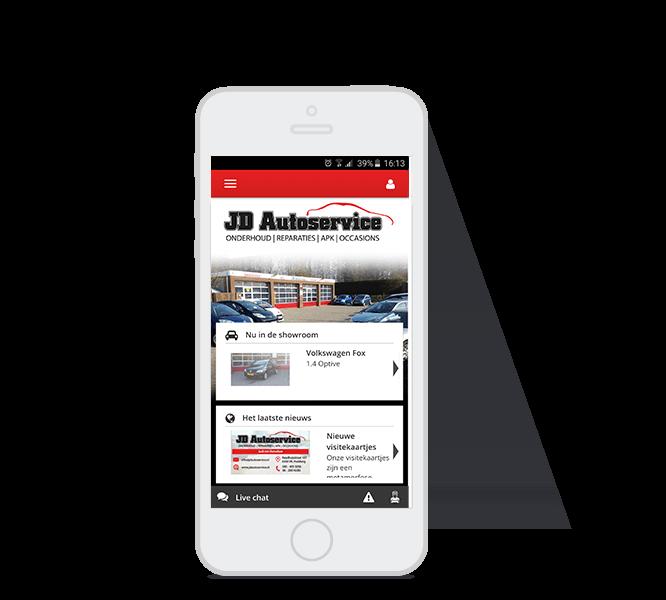 JD App Homepagina
