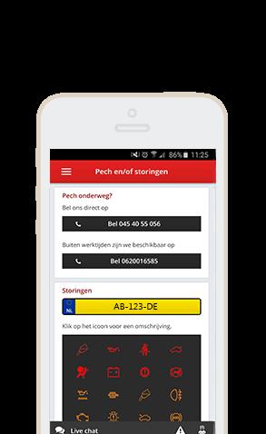JD App Pechhulp pagina